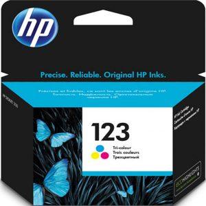 کارتریج جوهرافشان 123 اچ پی رنگی اورجینال HP 123 Tri-color