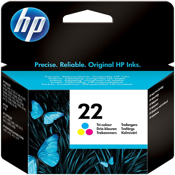 HP 22 Tri-color Original Ink