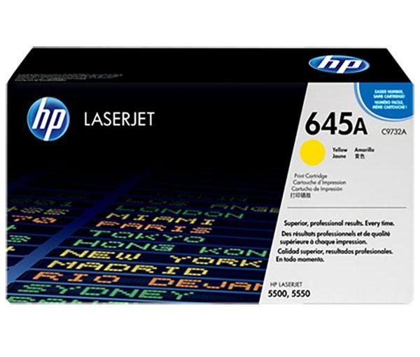 کارتریج 645A اچ پی زرد اورجینال HP 645A Yellow Cartridge Original