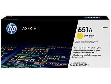 کارتریج 651A زرد اچ پی غیر اورجینال HP 651A Yellow Cartridge
