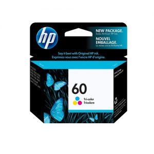 کارتریج جوهرافشان رنگی اچ پی HP 60 Tricolor