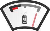 نشانگر و شاخص اتمام بنزین برای جوهر کارتریج - عکس استفاده شده در سایت الوکارتریج aloocartridge.com