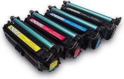 چهار رنگ مختلف کارتریج پرینتر لیزری_ عکس استفاده شده در سایت aloocartridge.com