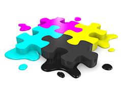پازل cmyk_ عکس استفاده شده در سایت aloocartridge.com