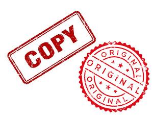 مهر کپی و اصل_ عکس استفاده شده در سایت aloocartridge.com