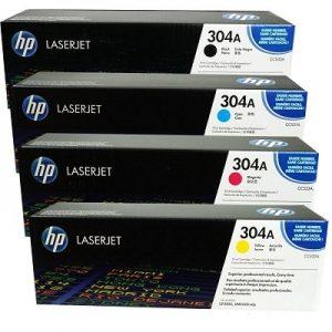 کارتریج لیزری HP 304A سری کامل_ عکس استفاده شده در سایت aloocartridge.com