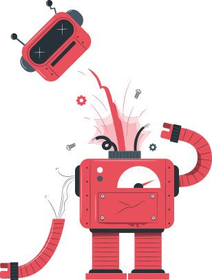 ربات از کار افتاده_ عکس استفاده شده در سایت aloocartridge.com