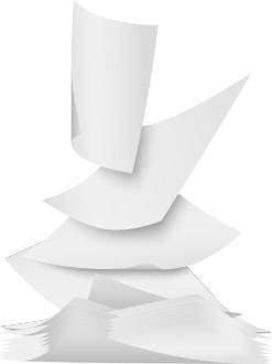 کاغذها و داکیومنت های سفید در حال افتادن_ عکس استفاده شده در سایت aloocartridge.com