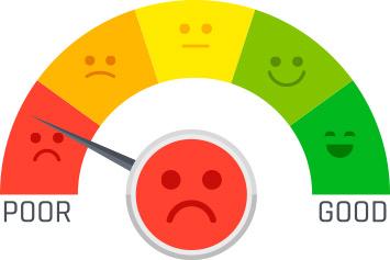 مقیاس احساس درد از حس بد تا خوب_ عکس استفاده شده در سایت aloocartridge.com