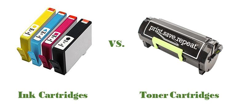 کارتریج جوهرافشان در برابر کارتریج تونر_ عکس استفاده شده در سایت aloocartridge.com