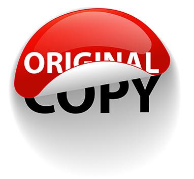 استیکر خلاقانه ی اصل و کپی _ عکس استفاده شده در سایت aloocartridge.com