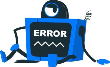 ارور 404 و ربات از کار افتاده_ عکس استفاده شده در سایت aloocartridge.com